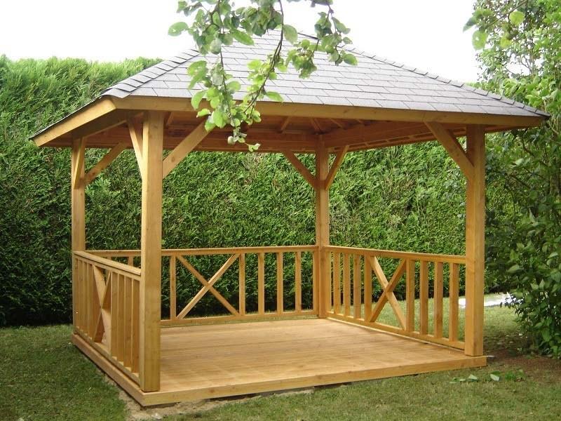 kiosque gloriette carbet auvent pr au paillote environnement bois. Black Bedroom Furniture Sets. Home Design Ideas