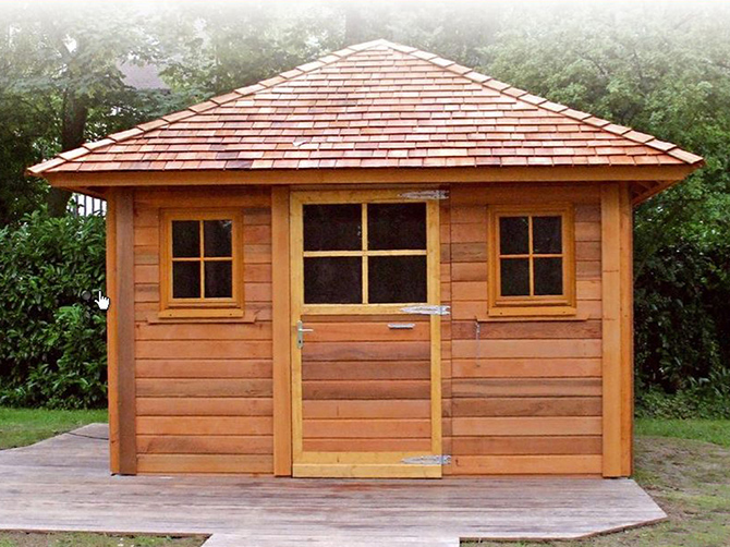 Image 9 - Construction sur mesure - toit 4 pentes - 3.60 x 3.60 m - Bardage Red Cedar
