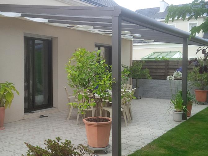 Amazing Pergolas En Aluminium Couverte Bois For Couverture Terrasse  Aluminium With Couverture De Terrasse En Bois