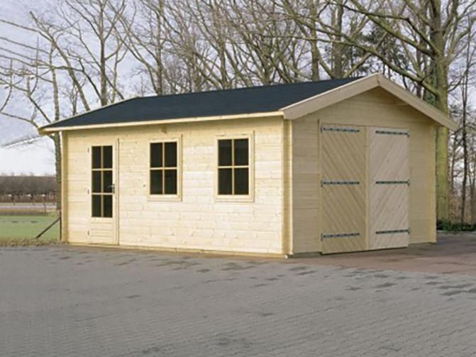 Image 5 - Garage en madriers emboités. Toit 2 pentes