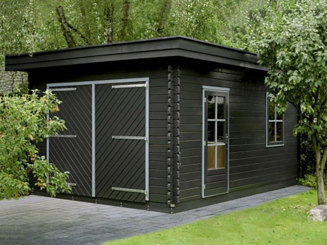 Image 3 - Garage en madriers emboités, toit plat