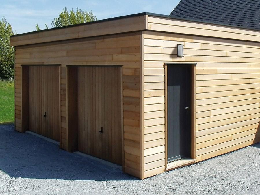 Garage En Ossature Bois  Environnement Bois