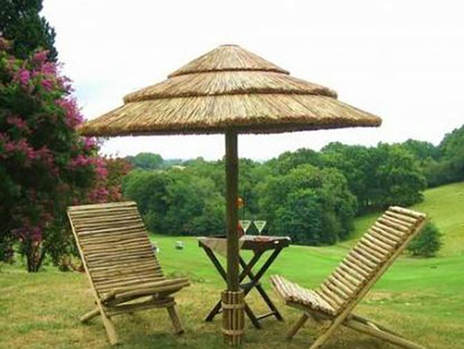 paillote parasols environnement bois. Black Bedroom Furniture Sets. Home Design Ideas