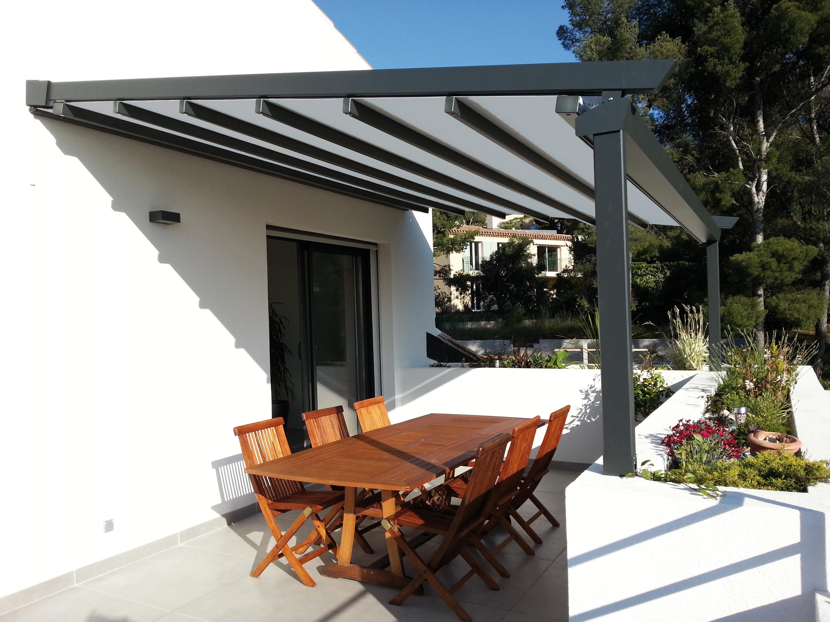 Préau, pergolas couvertes, couverture de terrasse, appentis ...